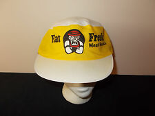 VTG-1980s Fat Freddies Freddy Jerky Meat Snacks thin painters souvenir hat sku22