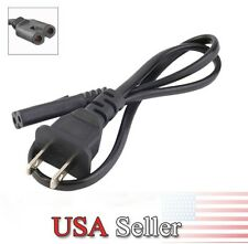 6ft Figure 8 Male 2-Prong AC Power Supply Cord For Samsung Sony Sharp LED LCD TV