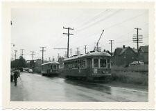 5G444 RP 1950s LEHIGH VALLEY TRANSIT RAILWAY STREET CARS WHERE ? FAN TRIP?
