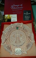 "Waterford Crystal ""Joy to the World"" 1999 Songs of Christmas, Plate with Box"