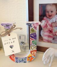 U Is For Uncle Stamp Covered Any Letter Or Number Gift Present Personalise