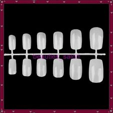 12Pcs Natural Full Shot Acrylic False Nail Tips Acrylic UV Gel False Toe Tips