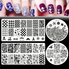 4pcs/set Born Pretty Flower Theme Nail Art Stamping Template Plates Manicure DIY