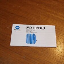 Instructions for MINOLTA MD LENSES in 4 languages