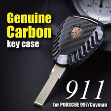 GENUINE CARBON FIBER Remote Key Fob Shell for PORSCHE 997 911 Boxster 987 Cayman