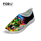 Mens lightweight Mesh Slip On Running Shoes Fashion Animal Trainers Sports Gym