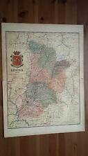 1903 MAPA de Lerida 1902 por Benito Chias y Carbo (Spain Map España Spagna)