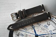 Ocean1 Band HANDMADE Leather Strap for Omega 18mm Lug Very Nice Black H1BL18R