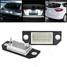 2x 12V 24 LEDs Bulb Number License Plate Lights Lamps #S For Ford C-Max Focus 2