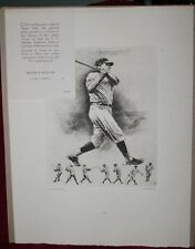 Vintage The Immortal Babe Ruth Print by Palenske