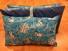 NEW KINDERMAT NAP MAT WITH CUSTOM OLAF FROZEN COVER  AND PILLOW