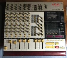 Akai MG614 Cassette 6 Track Mixer 4 Track Recorder Tape Door Stuck Untested