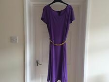 NINA LEONARD PURPLE DRESS WITH GOLD CHAIN BELT SIZE XL