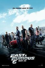 FAST & FURIOUS 6 MOVIE POSTER  MINI ORIGINAL 11x17 Vin Diesel RIP Paul Walker