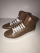 New Men's Prada High Top Sneakers, Brown, Size 11, Prada 10
