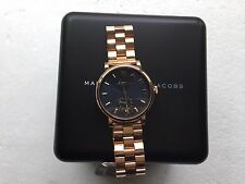 NWT Marc by Marc Jacobs MBM3330 Women's Rose Gold Analog Watch With Blue Dial