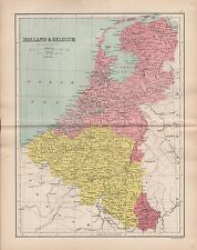 1875 ANTIQUE MAP - HOLLAND AND BELGIUM