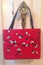 Rafe New York Red Handbag, Asian Inspired Embroidery with Crystals.  Stunning