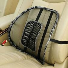 1X Black Back Lumbar Waist Massage Cushion Support Pad for Car Seat Office Chair