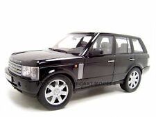2003 RANGE ROVER BLACK 1:18 DIECAST MODEL CAR BY WELLY 12536