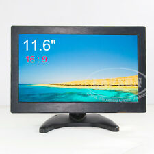 11.6 inch Wide Screen HDMI VGA AV BNC HD LCD Color Monitor Screen for PC CCTV A