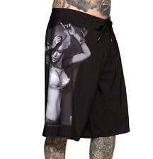 SULLEN CLOTHING LOVE AFFAIR BOARD SHORTS SWIM TRUNKS  SKULL TATTOO BEACH 30