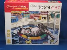 B. Kliban POOLCAT Pool Cat Jigsaw Puzzle 300 Pc Pomegranate Kids COMPLETE Open