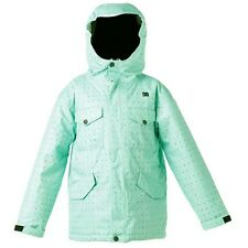 NEW Youth Girl's DC Shoes Arcadia K Ski Snowboard Snow Jacket Mint Green Size L