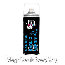 Pinty Plus Varnish 400ML Spray Art And Craft Matt Water Based Clear Colourless