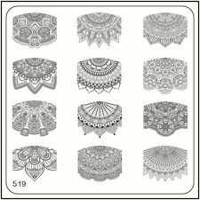 MoYou Nail Fashion Square Image Plate 519 Ethnic Style Stamping Template