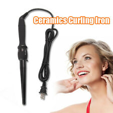 Black Conical Wand Hair Curling Tong Ceramic Coated Roller Hair Styler Iron Wave