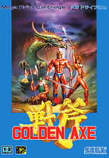 Framed Print – SEGA Mega Drive Golden Axe Japanese Version (Gaming Picture Art)