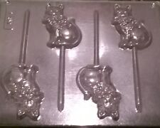 CAT SITTING CHOCOLATE LOLLIPOP MOULD