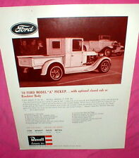 Revell '29 Ford Model A Pickup Model Car Kit 1965 Dealer's Advertising Flyer