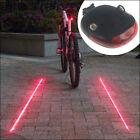 Cycling Bicycle Safety Warning 2 Laser+ 5 LED Flashing Bike Rear Tail Light Lamp
