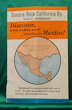 Sonora-Baja California Ry - Time Table - Poor Condition