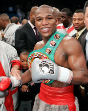 Boxing World Champion Boxer FLOYD MAYWEATHER JR Glossy 8x10 Photo Belt Print
