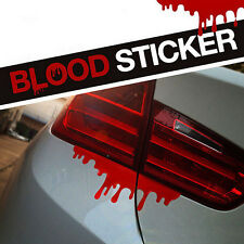 1 X Red Blood Car Stickers Reflective Car Decals Light Bumper Body Sticker T