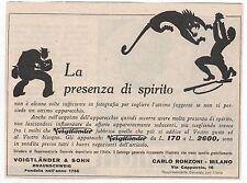 Pubblicità 1931 VOIGTLANDER FOTO PHOTO BRAUNSCHWEIG old advert werbung publicitè