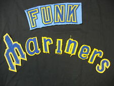 """Vintage Style Mariners Pitchfork Jersey Letters w. """"FUNK"""" Patch BN-G"""