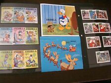 ANGUILLA 1981 Disney 2 Complete Set Scott 434-43, 453-462 Easter - Christmas MNH