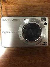 Sony Super Steady Shot DSC-W120 Silver Camera FOR PARTS