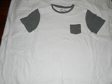 BDG URBAN OUTFITTERS White & Gray Slim Fit Crew Neck Short Sleeve T-Shirt XL