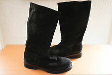 Ann Demeulemeester Suede Black Riding Black Boots Rare shoes size 44 US 11