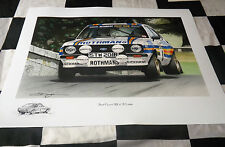 ROTHMANS FORD ESCORT MK2 RS 1800 MALCOLM WILSON SUTTON NEW PAINTING PRINT ART A+