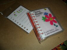 Friendclub mini refillable flower floral Binder Notebook memo w refill san-x