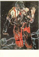 Tarjeta de arte: Georg Baselitz-schwarzgründig