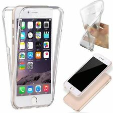 FUNDA TAPA DELANTERA FLIP GEL COVER CASE IPHONE 7 TPU TRANSPARENTE ANTICHOC 360