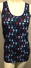 NOBO JUNIOR Size SMALL TANK TOP SHIRT SKELETON SKULL SUICIDE SQUAD BLUE NEW