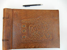 Leather Presentation PHOTOGRAPH ALBUM BLANK  VINTAGE RUSSIAN EMPTY WITH TAGS